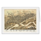 Brantford, ON, Canada Panoramic Map - 1875 Card