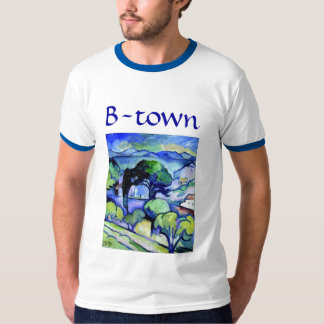 Braque-Town in Blue Tee Shirt