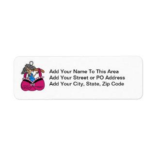 Bras and Wrinkles Humor Return Address Label