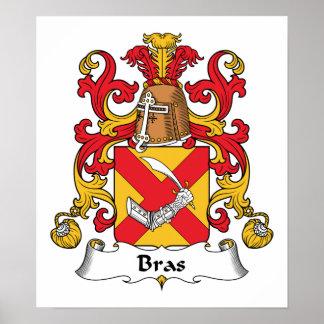 Bras Family Crest Poster