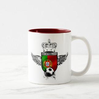 Brasão da Bandeira Portuguesa - Estilo retro Two-Tone Coffee Mug