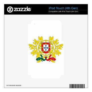 Brasão de Armas (Coat of Arms) de Portugal iPod Touch 4G Decal