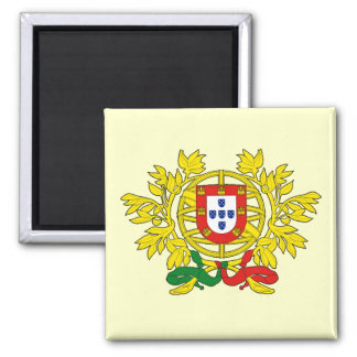 Brasão de armas de Portugal 2 Inch Square Magnet