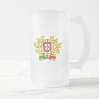 Brasão de armas de Portugal Frosted Glass Beer Mug