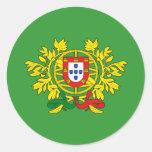 Brasão de armas de Portugal Pegatina Redonda