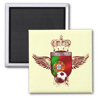 Brasão de Futebol Fás Portugueses 2 Inch Square Magnet