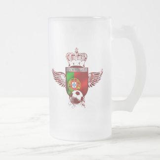 Brasão de Futebol Fás Portugueses Frosted Glass Beer Mug