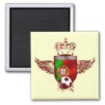 Brasão de Futebol Fás Portugueses Imanes