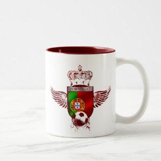 Brasão de Futebol Fás Portugueses Two-Tone Coffee Mug