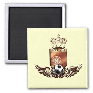 Brasão dos fás de futebol portuguesa 2 inch square magnet