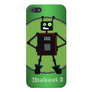 Brash Robot Green personalized iPhone 5 Case