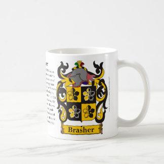 Brasher, el origen, el significado y el escudo taza clásica