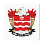 Brasher Family Crest Canvas Print