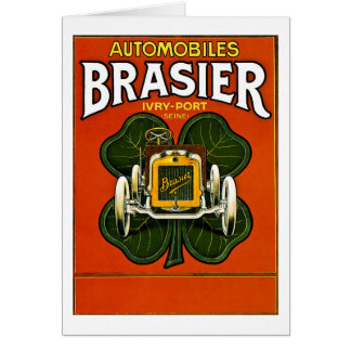 Brasier Automobiles Vintage French Advertisement Card