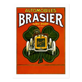 Brasier Automobiles Vintage French Advertisement Postcard