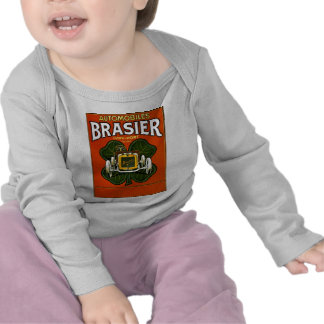 Brasier Automobiles Vintage French Advertisement Tshirts