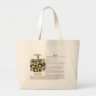 Brasier (con el significado del escudo de armas) bolsa tela grande