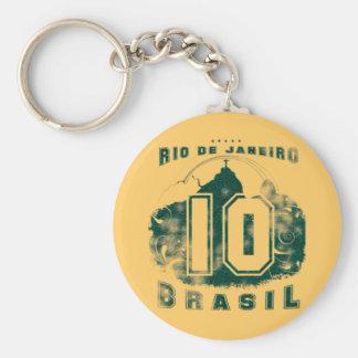 Brasil 10 basic round button keychain