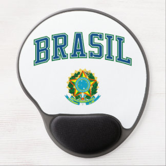 Brasil and Coat of Arms Gel Mouse Pad