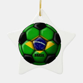 Brasil Ball Ceramic Ornament