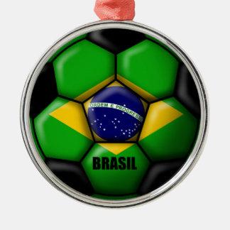 Brasil Ball Metal Ornament