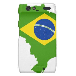 Brasil bandera Brazil Motorola Droid RAZR Funda