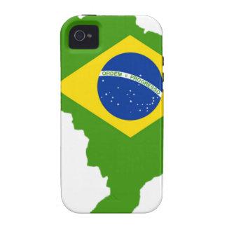 Brasil bandera Brazil Vibe iPhone 4 Carcasas