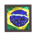 Brasil-bandera Cajas De Joyas De Calidad