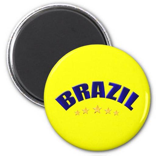 Brasil Brazil Soccer lovers gifts 2 Inch Round Magnet