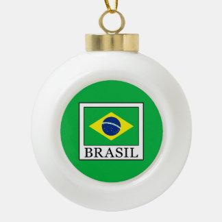 Brasil Ceramic Ball Christmas Ornament