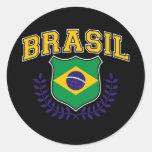 Brasil. Classic Round Sticker