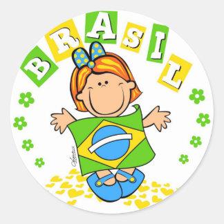 Brasil Classic Round Sticker