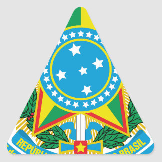Brasil  Coat of Arms Triangle Sticker