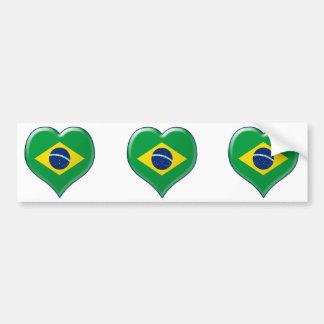 BRASIL CORAÇÃO BUMPER STICKER
