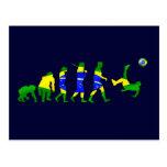 Brasil evolution of soccer football futebol gifts post card