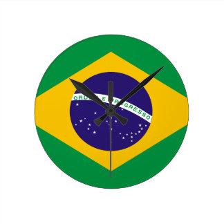 Brasil Flag Round Wallclocks