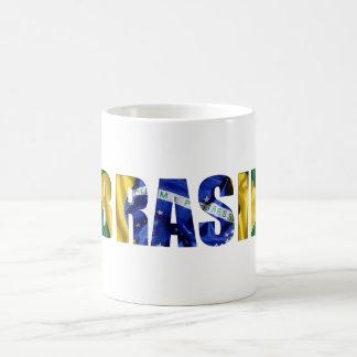 Brasil Flag Classic White Coffee Mug