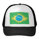 brasil flag peace hats