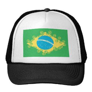 brasil flag peace trucker hat