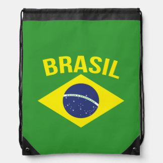 Brasil flag style drawstring bag