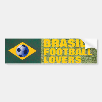 BRASIL FOOTBALL LOVERS BUMPER STICKER