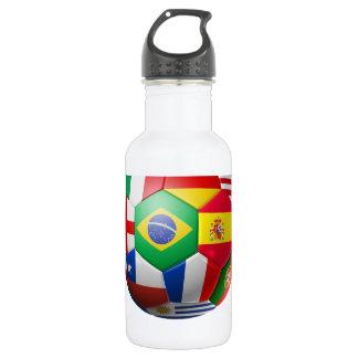 Brasil Futebol 18oz Water Bottle