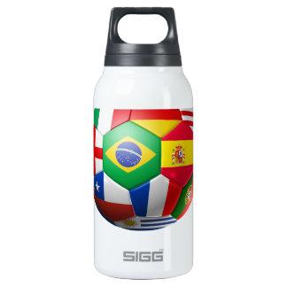 Brasil Futebol 10 Oz Insulated SIGG Thermos Water Bottle