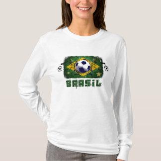 Brasil Grunge Soccer players Brazil Soccer gifts T-Shirt