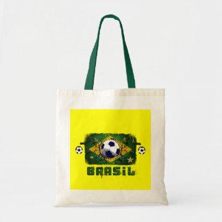 Brasil Grunge Soccer players Brazil Soccer gifts Tote Bag