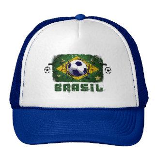 Brasil Grunge Soccer players Brazil Soccer gifts Trucker Hat