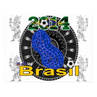 BRASIL PEANUT GIFTS CUSTOMIZABLE PRODUCTS POSTCARD