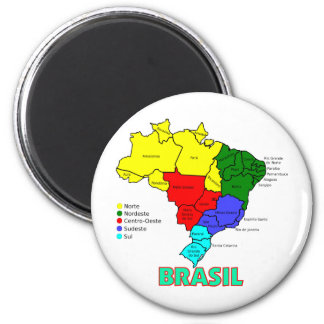 Brasil. Regions in Color Magnet