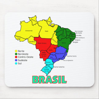 Brasil. Regions in Color Mouse Pads