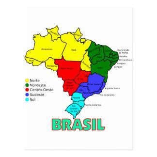 Brasil Regions in Color Postcards